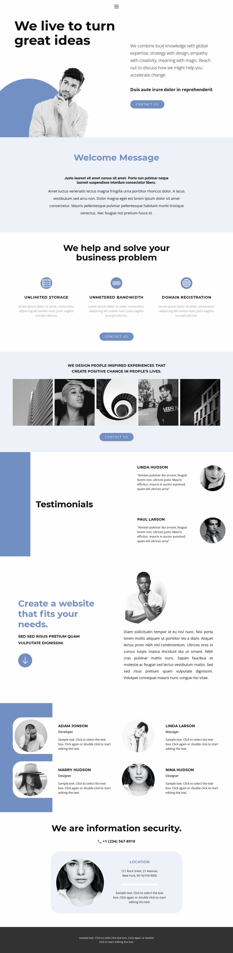 The embodiment of bold ideas Website Template