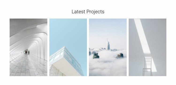 Modern architectural objects Html Code Example