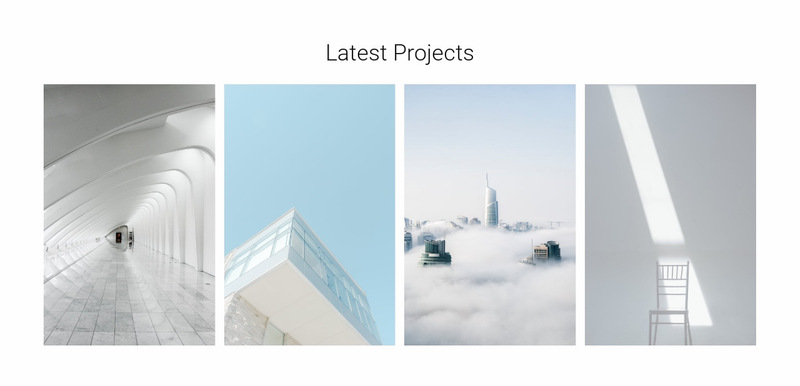 Modern architectural objects Web Page Designer