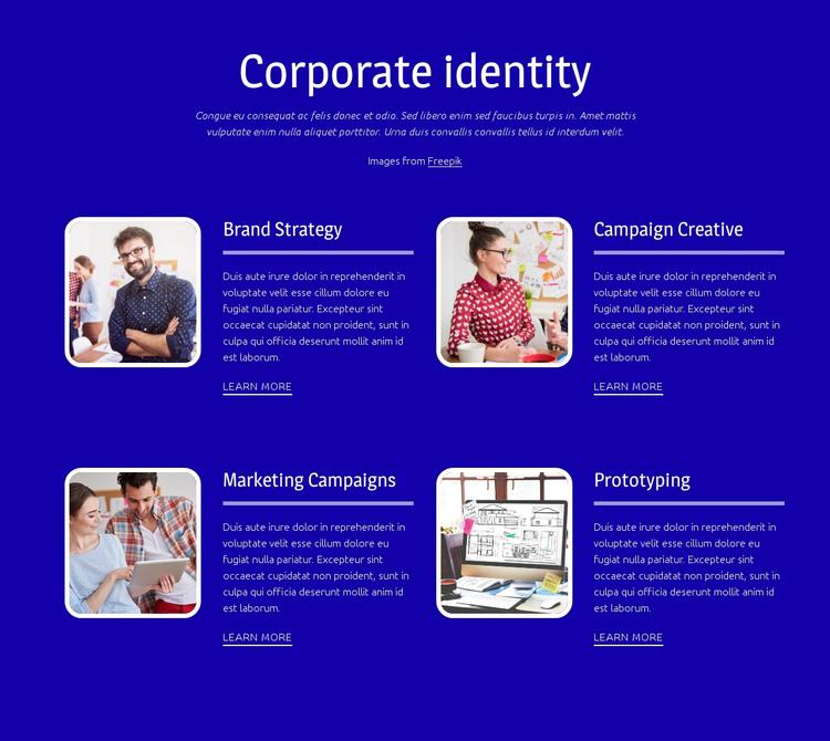 Corporate branding HTML Template
