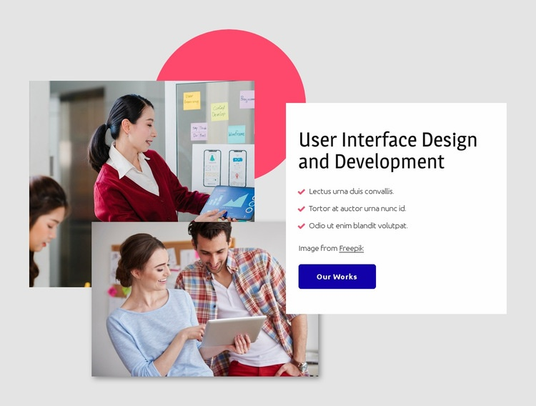 Interface design Web Page Designer
