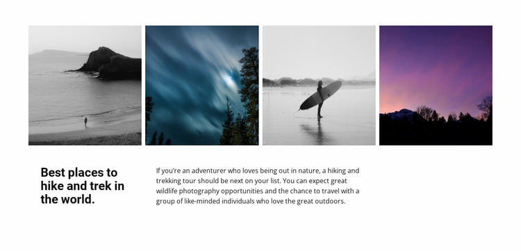 Best places in photo Website Mockup