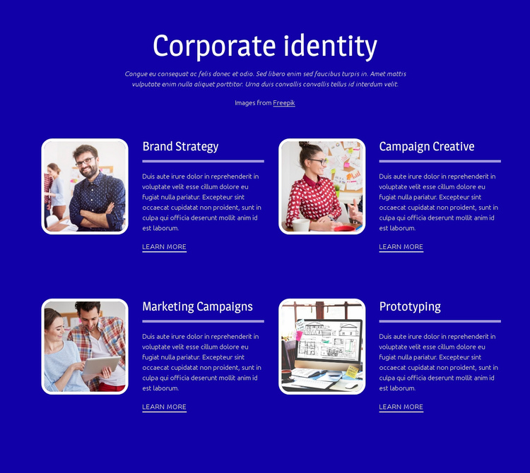 Corporate branding Website Template