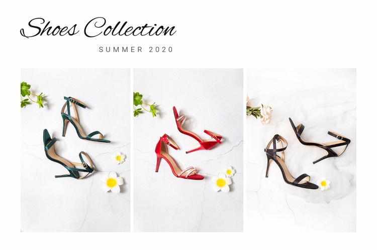 Shoes collection WordPress Website Builder