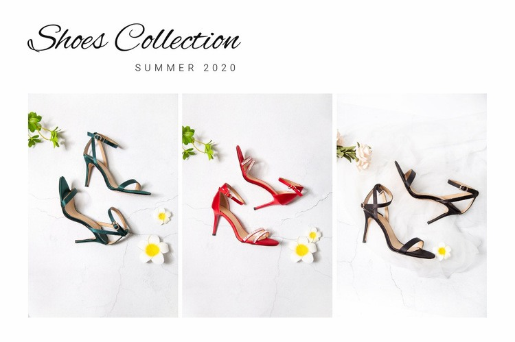 Shoes collection Wysiwyg Editor Html