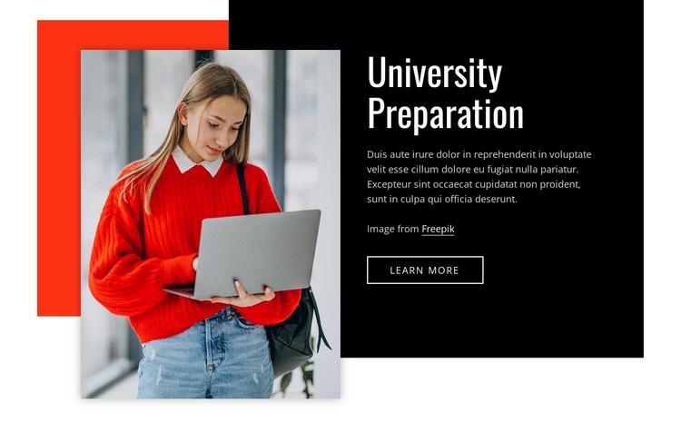 Univercity preparation Html Code Example