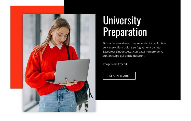 Univercity preparation HTML Template
