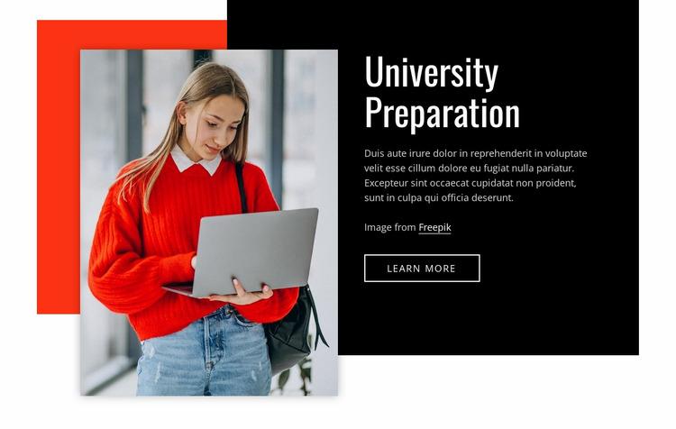 Univercity preparation Website Mockup