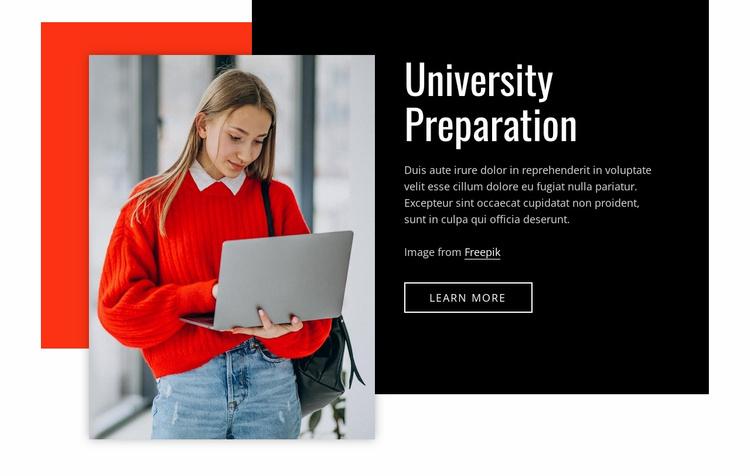 Univercity preparation Website Template