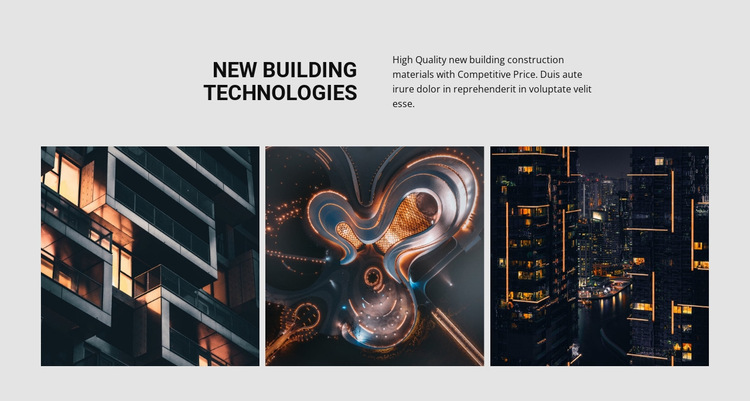 New building technology HTML5 Template