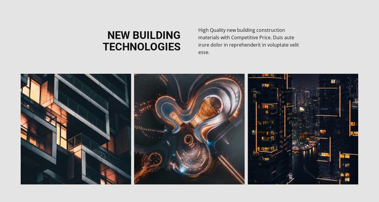 New building technology Website Mockup