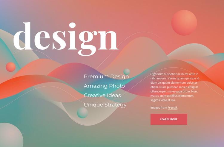 Creative designing HTML Template
