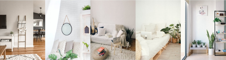 Gallery with interior ideas HTML5 Template