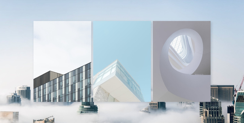 Modern building style Web Page Design