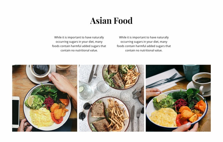 Asian food Html Code Example