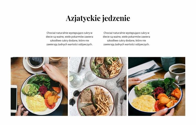 azjatyckie jedzenie Szablon witryny sieci Web