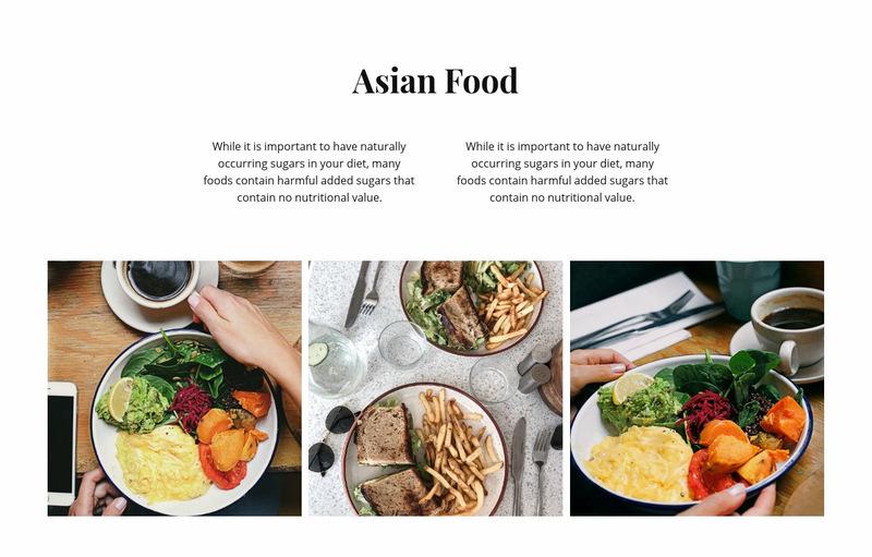 Asian food Web Page Designer