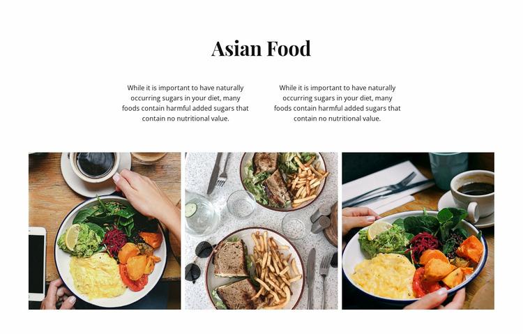Asian food Website Mockup