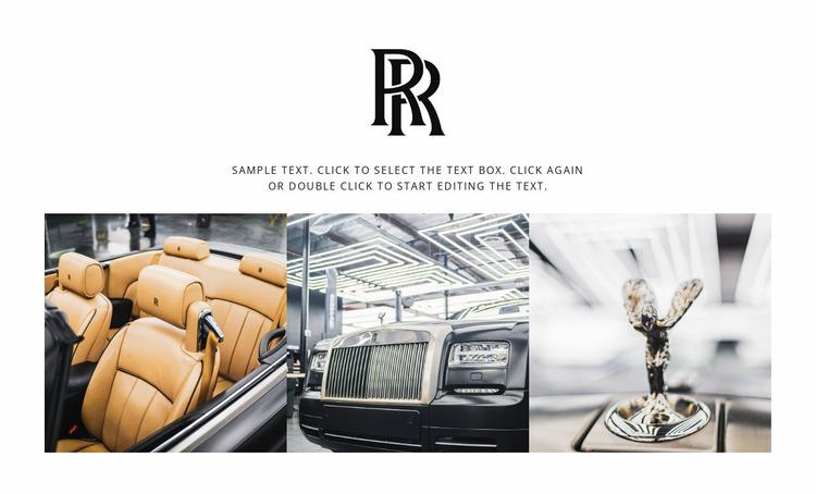 Rolls-Royce cars Website Mockup