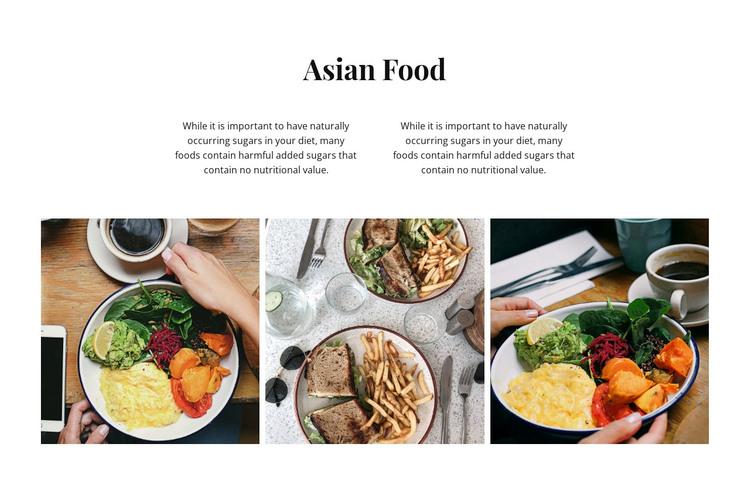 Asian food WordPress Theme
