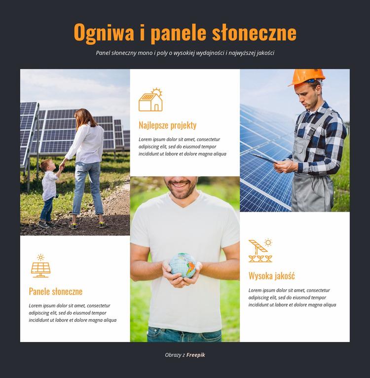 Ogniwa i panele słoneczne Szablon Joomla