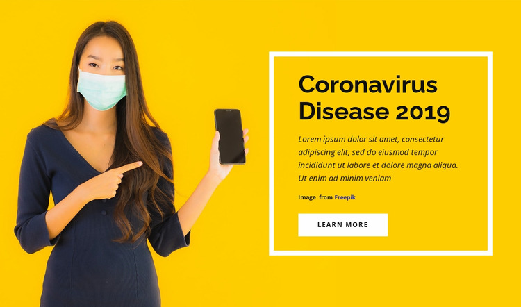 Coronavirus Desease Website Mockup