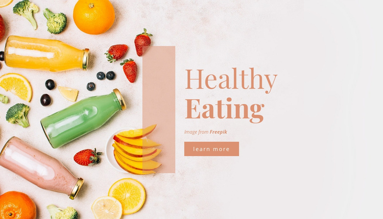 Healthy Eating Website Template