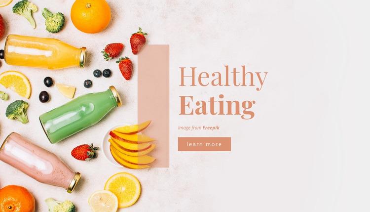 Healthy Eating WordPress Website Builder