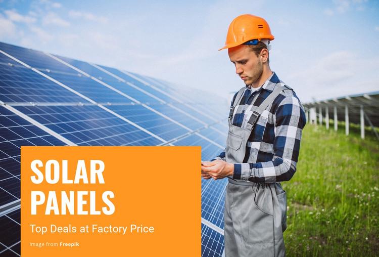 Solar Panels Homepage Design
