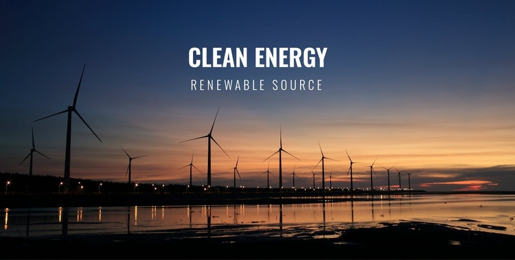 Clean energy Html Code Example