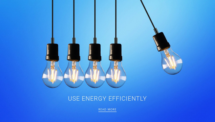 How to save energy One Page Template