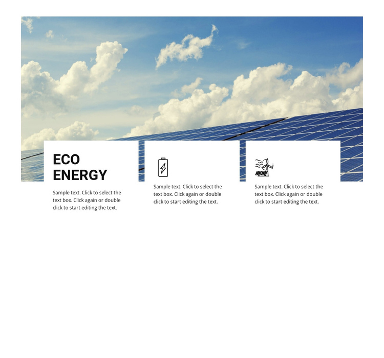 Eco energy One Page Template