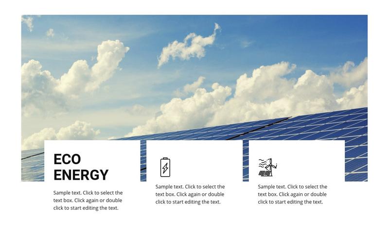 Eco energy Web Page Design