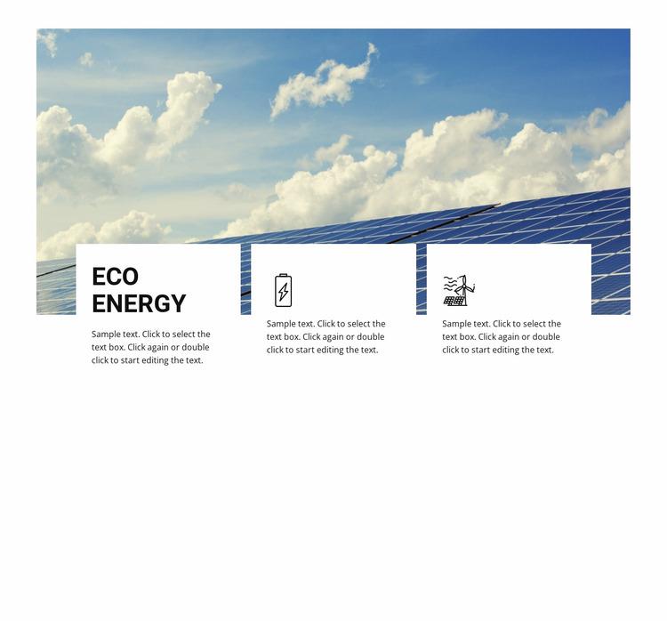 Eco energy Website Mockup