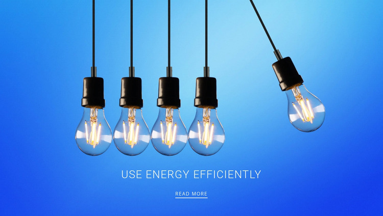 Use energy efficiently  WordPress Website Builder