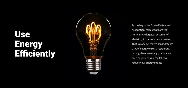 Energy-saving lamps Homepage Design