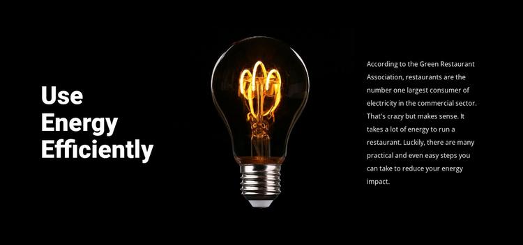 Energy-saving lamps Website Template