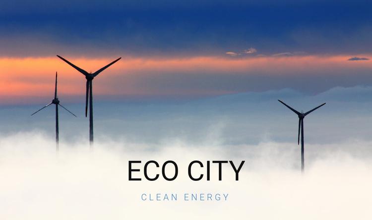 Eco city Website Template