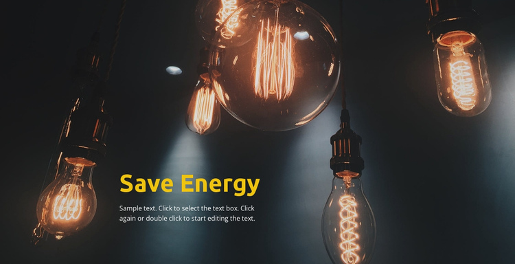 Save energy One Page Template