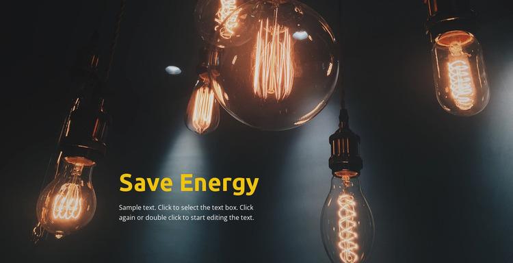 Save energy Website Mockup