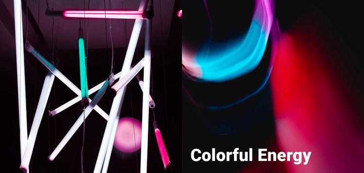 Colorful energy WordPress Theme