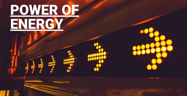 Power of energy WordPress Website Builder