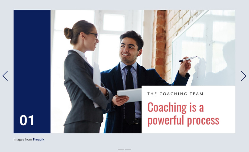 Coaching is Powerful Process Web Page Design