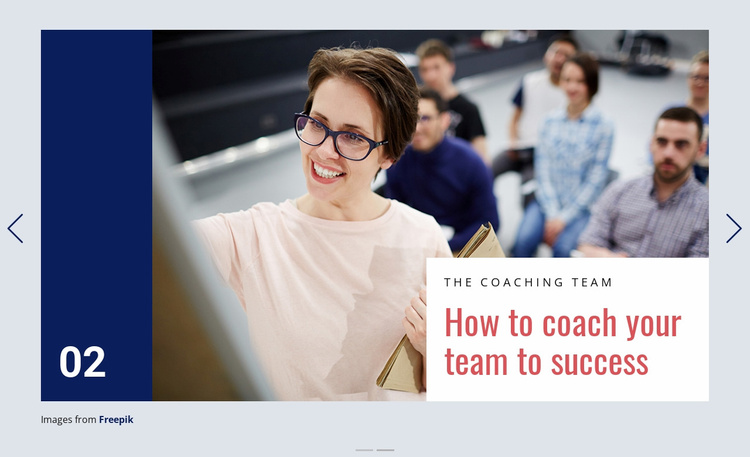 Coaching is Powerful Process Website Template