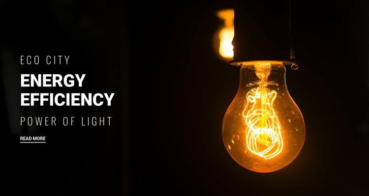 Energy efficiency  Homepage Design