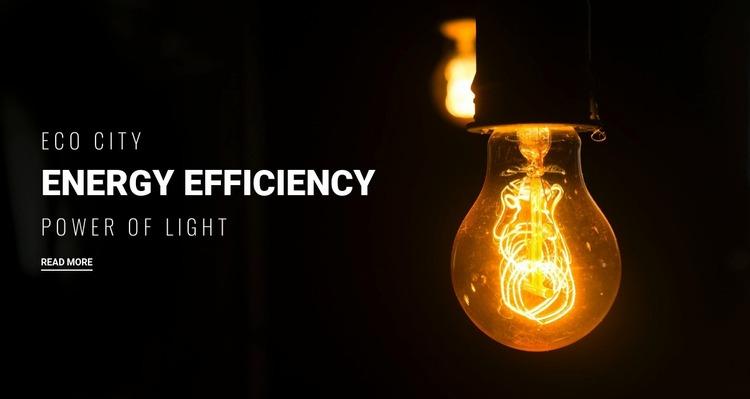 Energy efficiency  Website Mockup