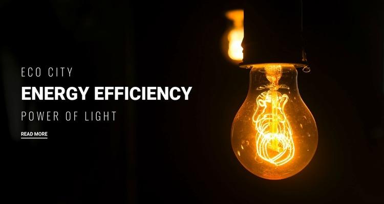Energy efficiency  WordPress Website Builder