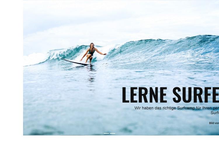 In Australien surfen lernen Website-Vorlage