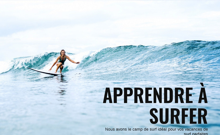 Apprenez à surfer en Australie Modèle de site Web