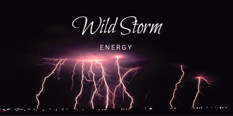 Wild storm energy HTML Template